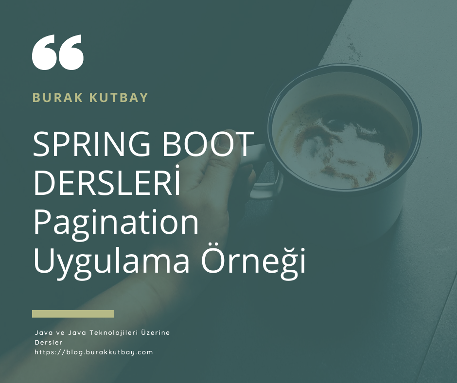 Spring Boot Pagination Uygulama Örneği
